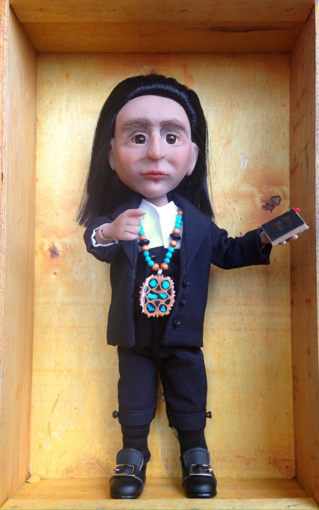 Doll with Bible & necklace
